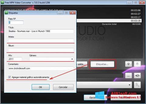 Ảnh chụp màn hình Free MP4 Video Converter cho Windows 8.1
