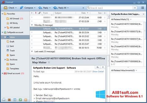 Ảnh chụp màn hình FoxMail cho Windows 8.1