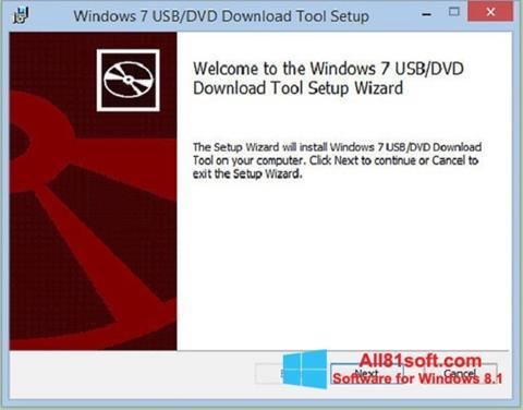 Ảnh chụp màn hình Windows 7 USB DVD Download Tool cho Windows 8.1