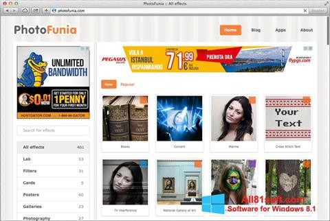Ảnh chụp màn hình PhotoFunia cho Windows 8.1