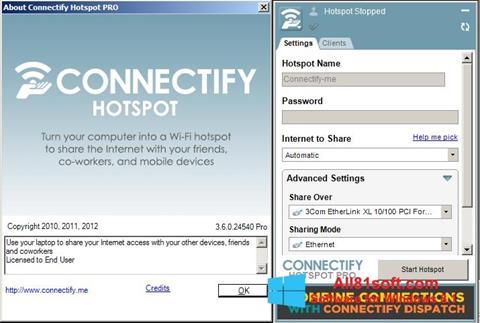 Ảnh chụp màn hình Connectify cho Windows 8.1