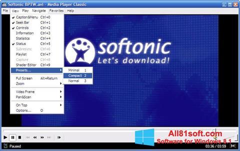 Ảnh chụp màn hình Media Player Classic cho Windows 8.1