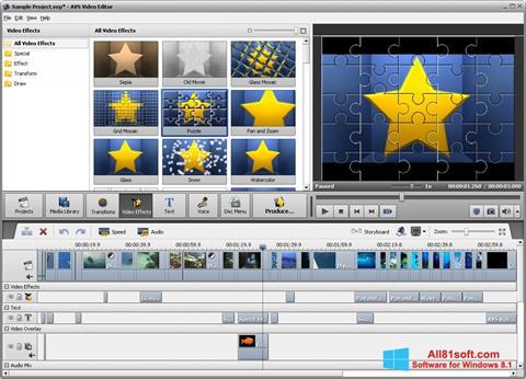 Ảnh chụp màn hình AVS Video Editor cho Windows 8.1
