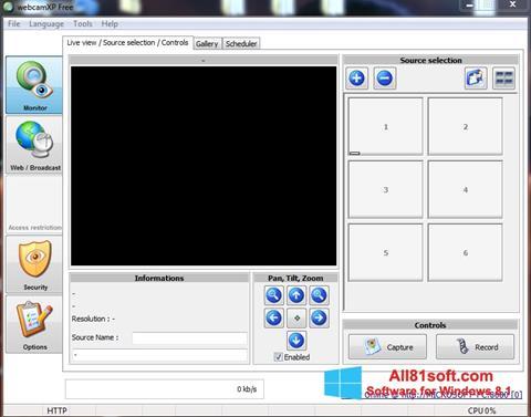 Ảnh chụp màn hình webcamXP cho Windows 8.1