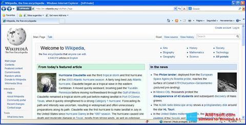 Ảnh chụp màn hình Internet Explorer cho Windows 8.1