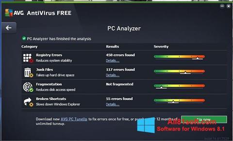 Ảnh chụp màn hình AVG AntiVirus Free cho Windows 8.1