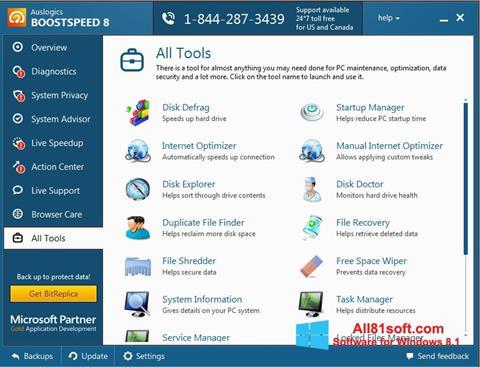 Ảnh chụp màn hình Auslogics BoostSpeed cho Windows 8.1