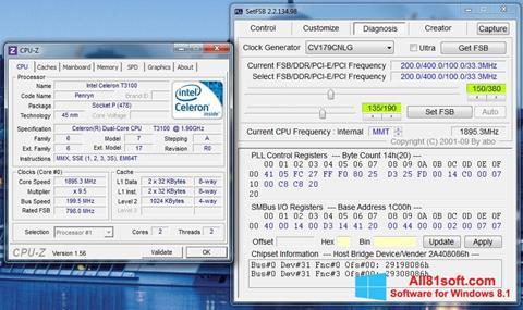 Ảnh chụp màn hình SetFSB cho Windows 8.1