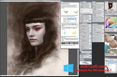 Ảnh chụp màn hình Corel Painter cho Windows 8.1