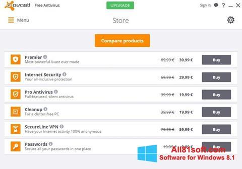 Ảnh chụp màn hình Avast Free Antivirus cho Windows 8.1