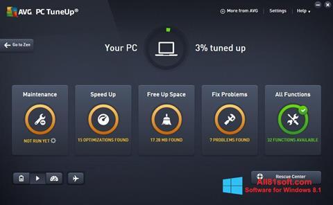 Ảnh chụp màn hình AVG PC Tuneup cho Windows 8.1