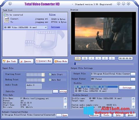 Ảnh chụp màn hình Total Video Converter cho Windows 8.1