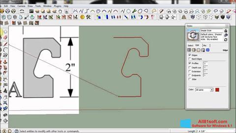 Ảnh chụp màn hình SketchUp cho Windows 8.1
