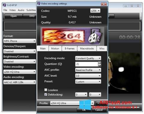 Ảnh chụp màn hình XviD4PSP cho Windows 8.1