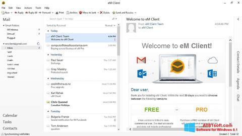 Ảnh chụp màn hình eM Client cho Windows 8.1