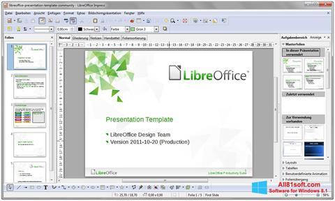 Ảnh chụp màn hình LibreOffice cho Windows 8.1