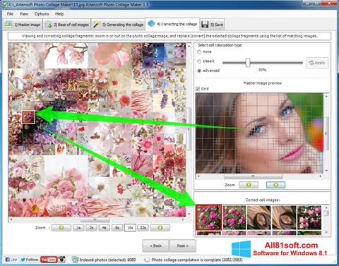 Ảnh chụp màn hình Photo Collage Maker cho Windows 8.1