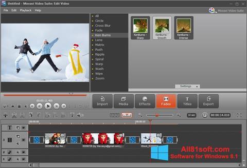 Ảnh chụp màn hình Movavi Video Suite cho Windows 8.1