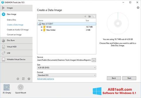 Ảnh chụp màn hình DAEMON Tools Lite cho Windows 8.1
