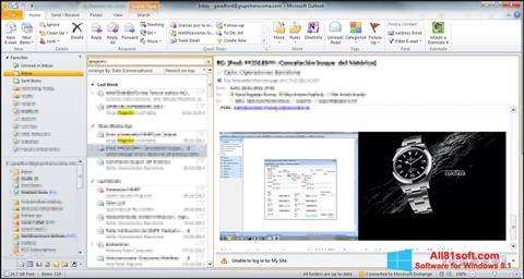 Ảnh chụp màn hình Microsoft Outlook cho Windows 8.1