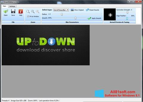 Ảnh chụp màn hình SmartDeblur cho Windows 8.1