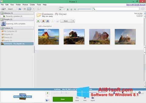 Ảnh chụp màn hình Picasa cho Windows 8.1