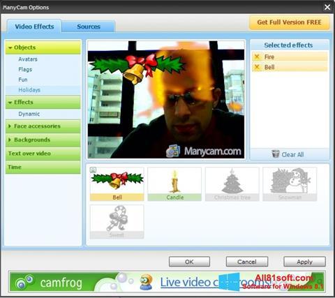 Ảnh chụp màn hình ManyCam cho Windows 8.1