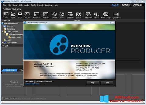 Ảnh chụp màn hình ProShow Producer cho Windows 8.1