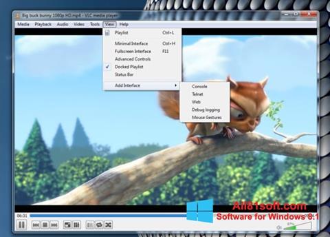 Ảnh chụp màn hình VLC Media Player cho Windows 8.1