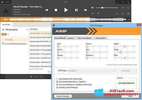 Ảnh chụp màn hình AIMP cho Windows 8.1