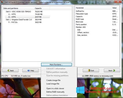 Ảnh chụp màn hình Zero Assumption Recovery cho Windows 8.1