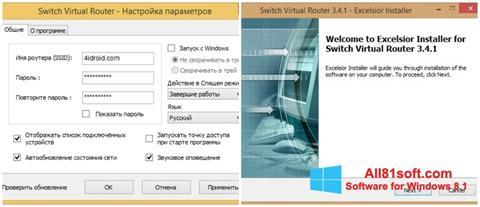 Ảnh chụp màn hình Switch Virtual Router cho Windows 8.1