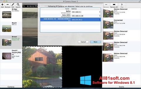 Ảnh chụp màn hình IP Camera Viewer cho Windows 8.1