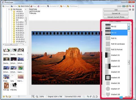 Ảnh chụp màn hình PhotoScape cho Windows 8.1