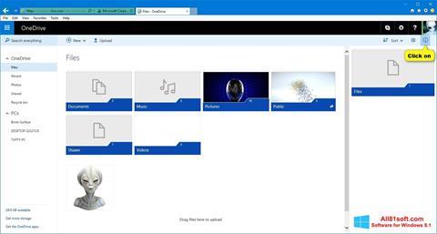 Ảnh chụp màn hình OneDrive cho Windows 8.1