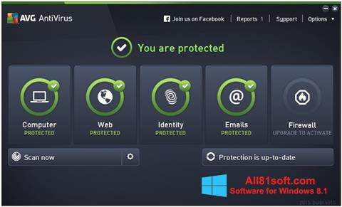 Ảnh chụp màn hình AVG AntiVirus Pro cho Windows 8.1