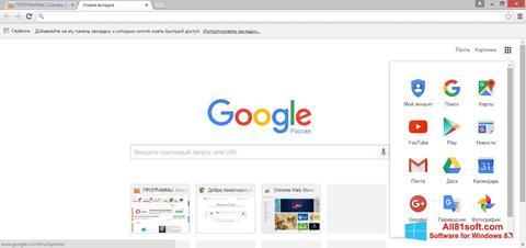 Ảnh chụp màn hình Google Chrome cho Windows 8.1