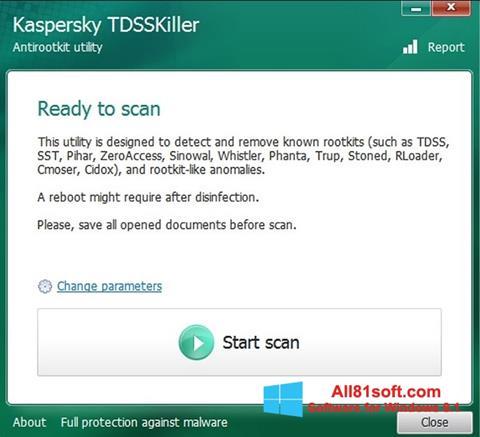 Ảnh chụp màn hình Kaspersky TDSSKiller cho Windows 8.1