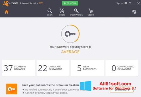 Ảnh chụp màn hình Avast Internet Security cho Windows 8.1