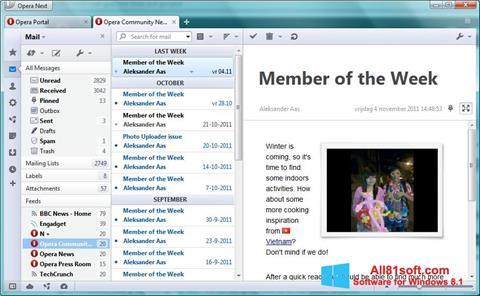 Ảnh chụp màn hình Opera Mail cho Windows 8.1