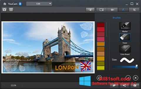 Ảnh chụp màn hình CyberLink YouCam cho Windows 8.1