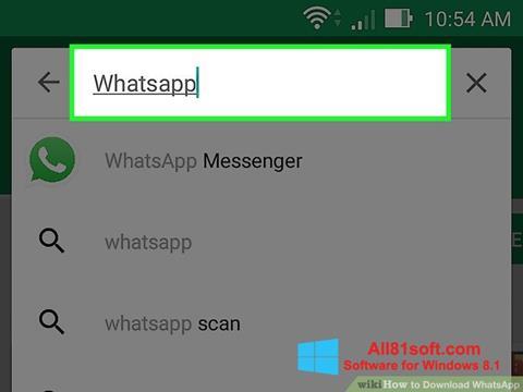 Ảnh chụp màn hình WhatsApp cho Windows 8.1