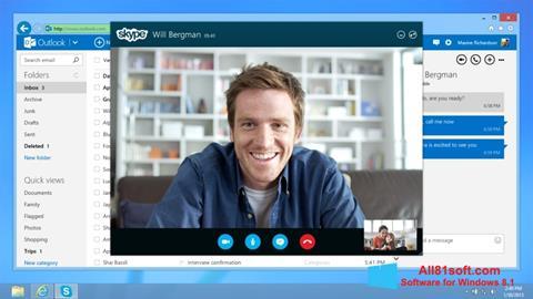 Ảnh chụp màn hình Skype cho Windows 8.1